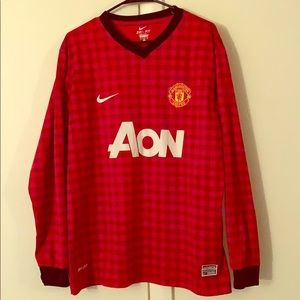 Manchester United Checkered Jersey